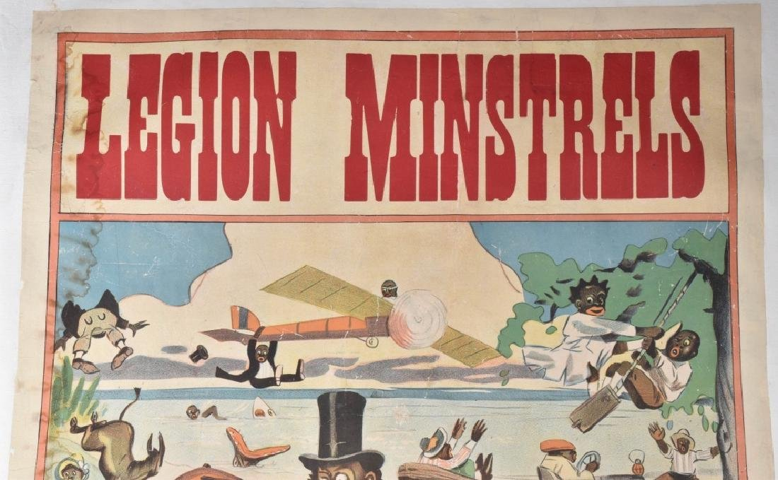 LEGION MINSTRELS ADVERTISING POSTER - 2