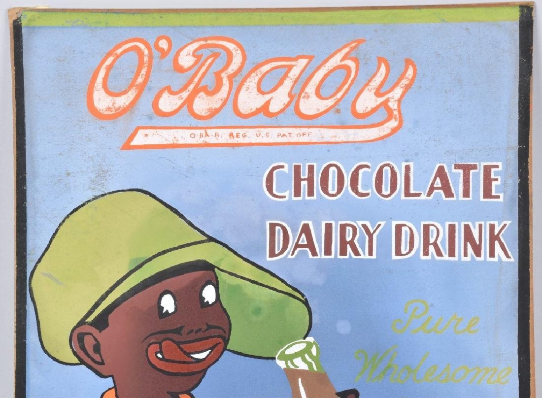 O'BABY DAIRY DRINK, HAND PAINTED CONCEPT ART SIGN - 2