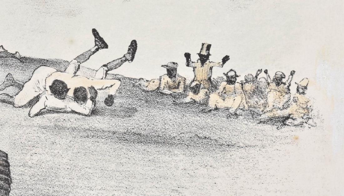 1882 CURRIER & IVES, A FOUL TIP, BLACK BASEBALL - 4