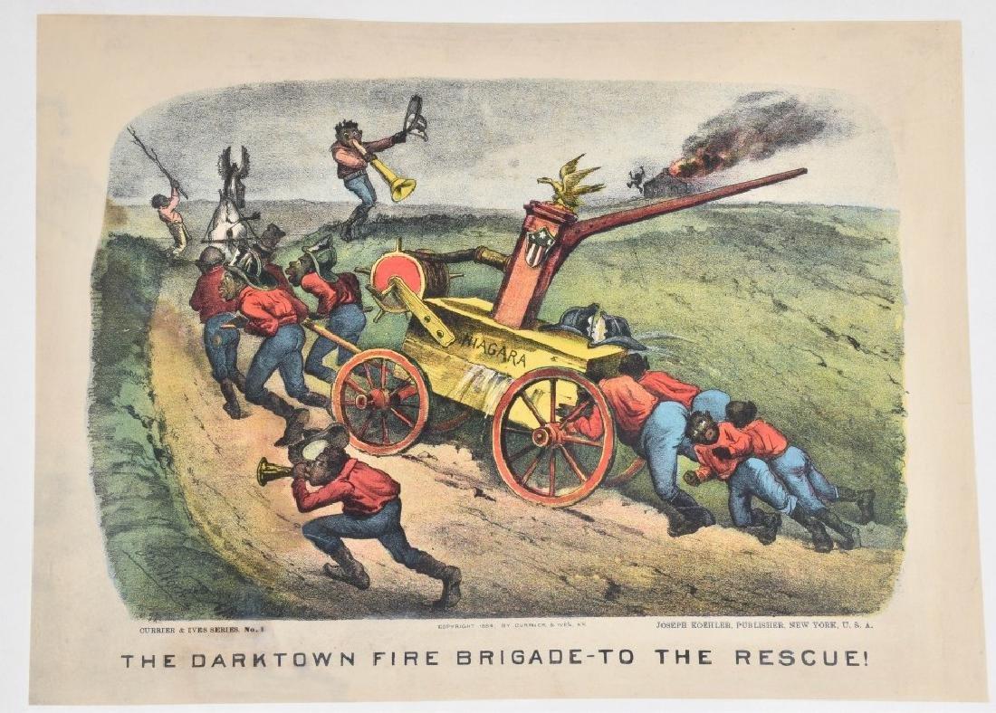 7-CURRIER & IVES, DARKTOWN FIRE BRIGADE PRINTS - 2