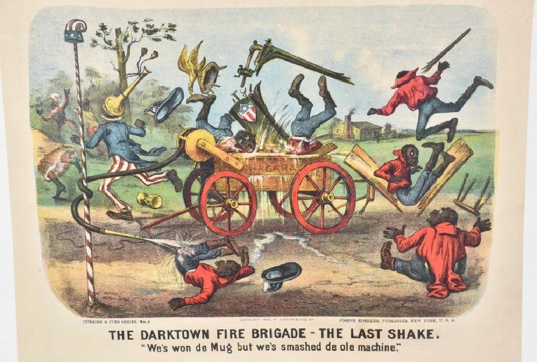 7-CURRIER & IVES, DARKTOWN FIRE BRIGADE PRINTS - 4