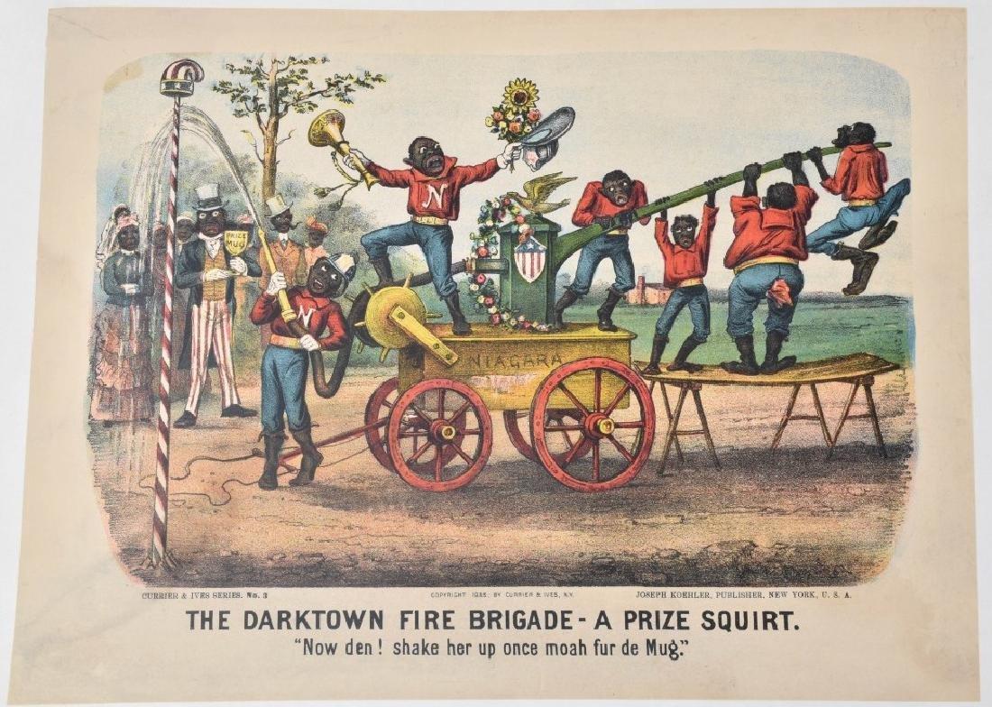 7-CURRIER & IVES, DARKTOWN FIRE BRIGADE PRINTS - 8