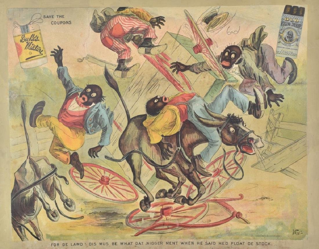 1902 DUKES MIXTURE BLACK AMERICANA ADV. SIGN