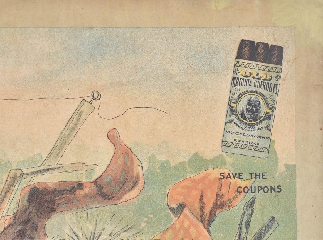 1902 DUKES MIXTURE BLACK AMERICANA ADV. SIGN - 4