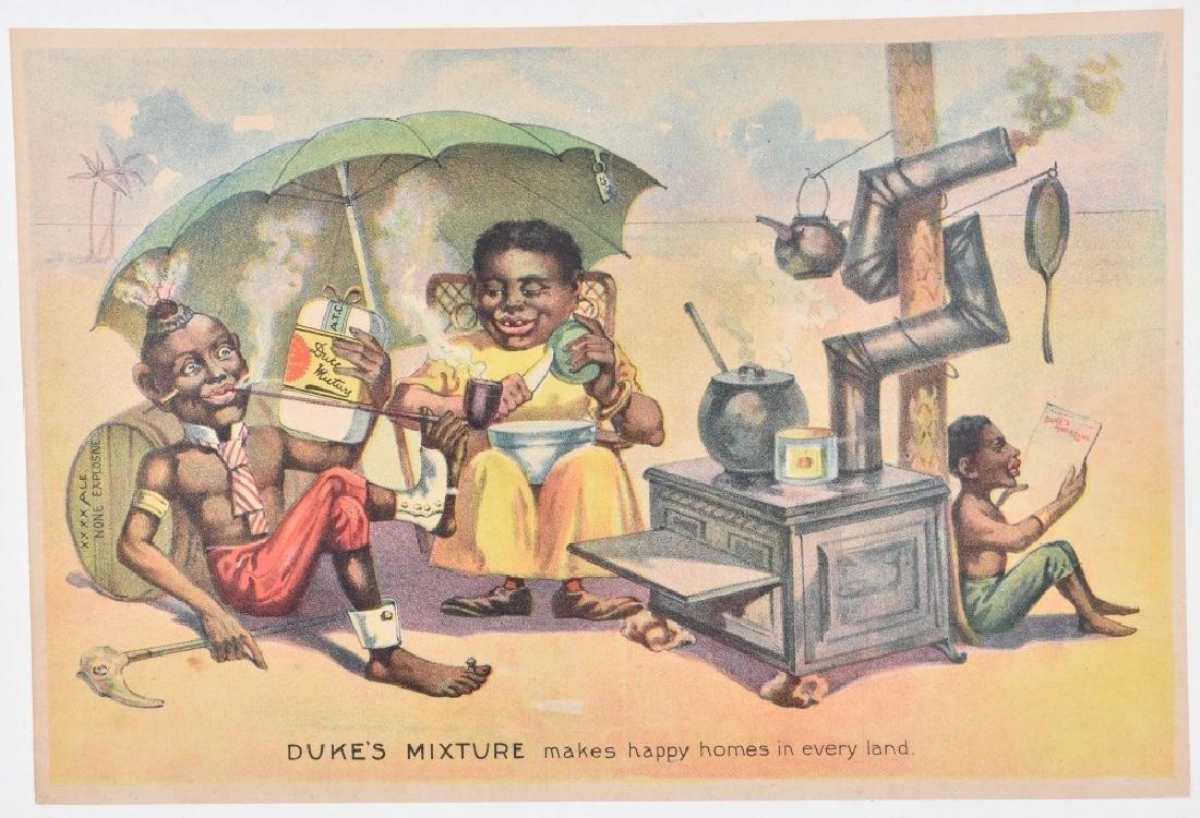 DUKES MIXTURE TOBACCO BLACK AMERICANA ADV. SIGN