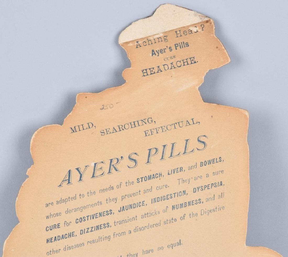 1883 AYERS CATHARTIC PILLS DIE CUT SIGN - 6