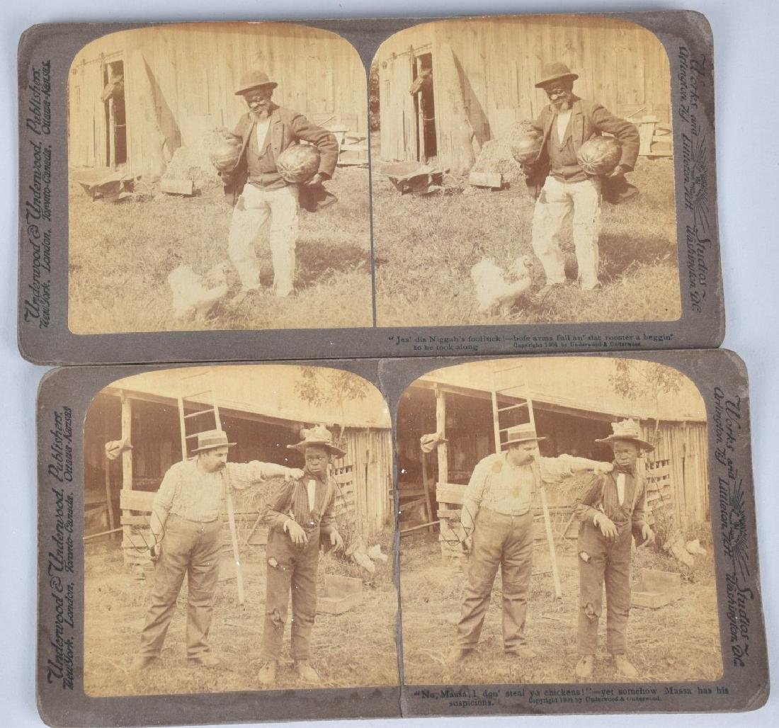 LOT BLACK AMERICANA ADVERT., STEREOCARDS & MORE - 4