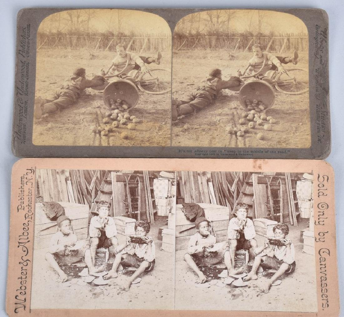 LOT BLACK AMERICANA ADVERT., STEREOCARDS & MORE - 5