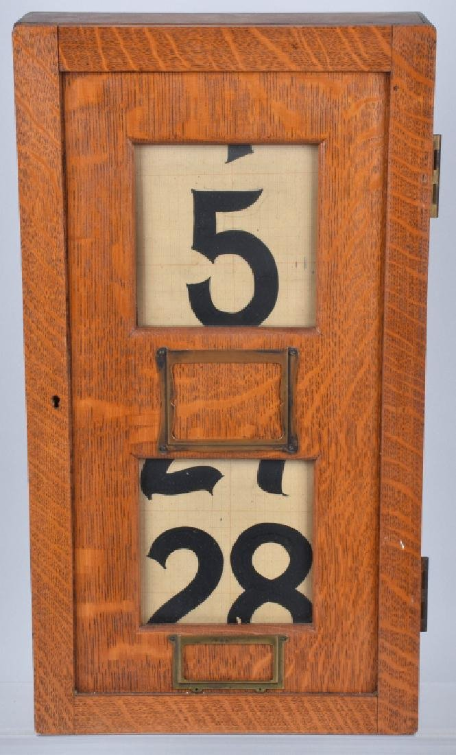 LARGE OAK PERPETUAL COUNTRY STORE CALENDAR