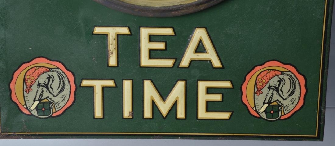 TETLEY TEA TIME EMBOSSED TIN ADVER. CLOCK - 2