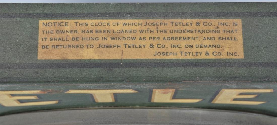 TETLEY TEA TIME EMBOSSED TIN ADVER. CLOCK - 4