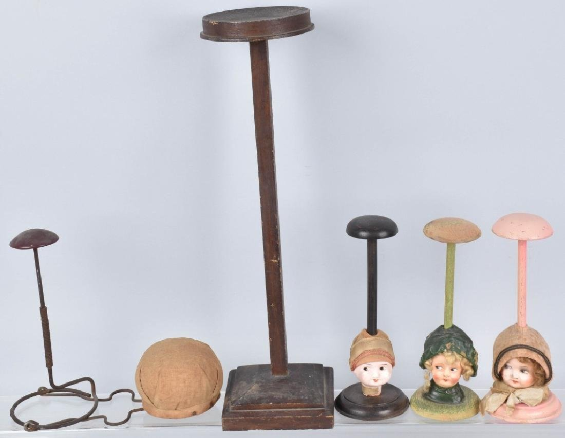 VANITY HAT STANDS, DOLL HEAD and MORE