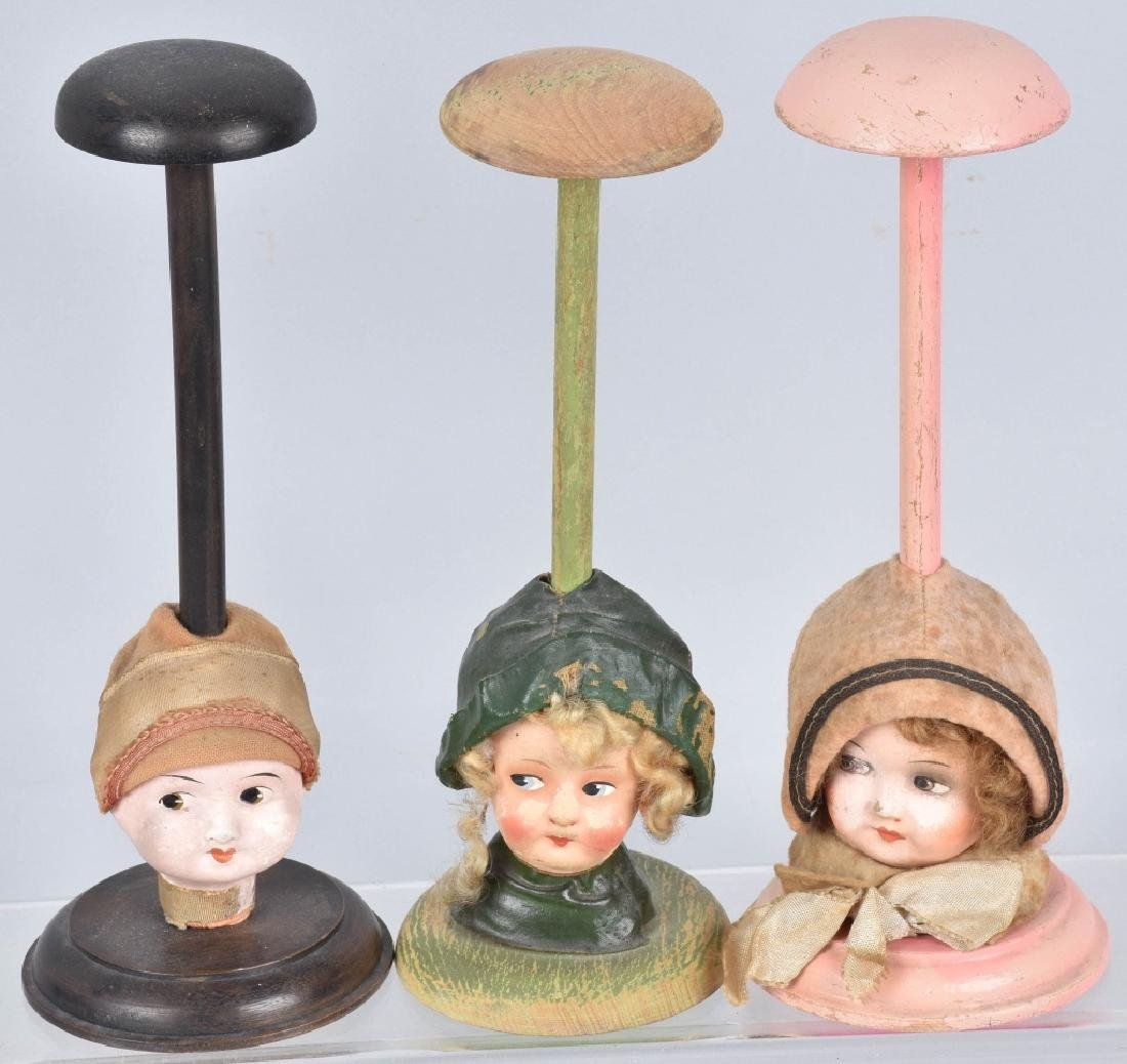 VANITY HAT STANDS, DOLL HEAD and MORE - 2