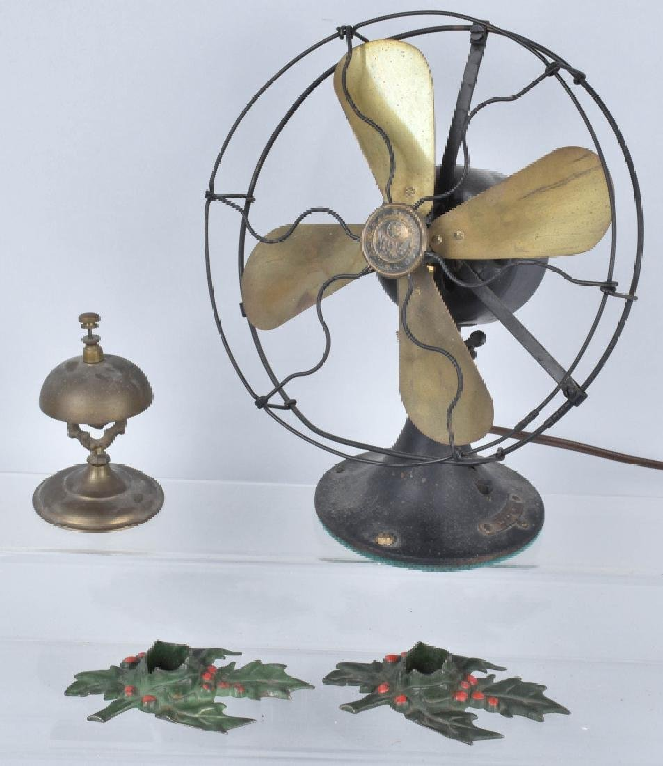 WHIZ BRASS BLADE FAN, COUNTER BELL & MORE