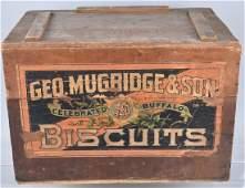 GEO. MUGRIDGE & SON, WOOD BISQUIT CRATE
