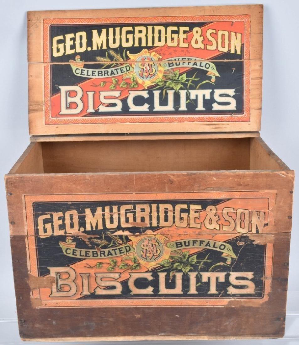 GEO. MUGRIDGE & SON, WOOD BISQUIT CRATE - 2