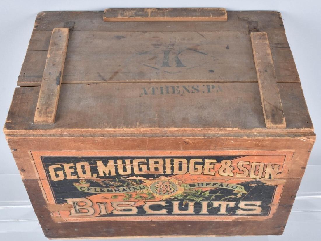 GEO. MUGRIDGE & SON, WOOD BISQUIT CRATE - 3