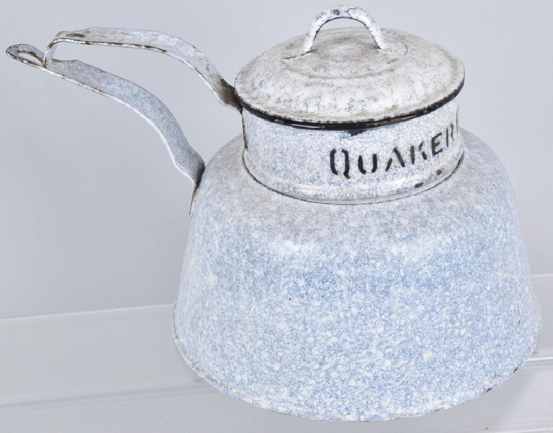 QUAKER OATS ADVERTISING GRANITEWARE COOKER - 3