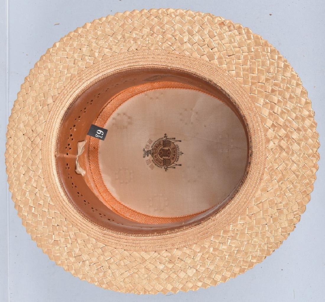 3-VINTAGE STRAW HATS - 4
