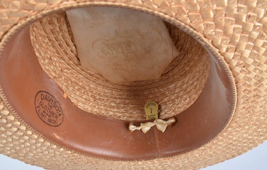 3-VINTAGE STRAW HATS - 6