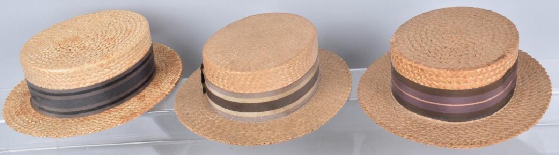 3-VINTAGE STRAW HATS - 2