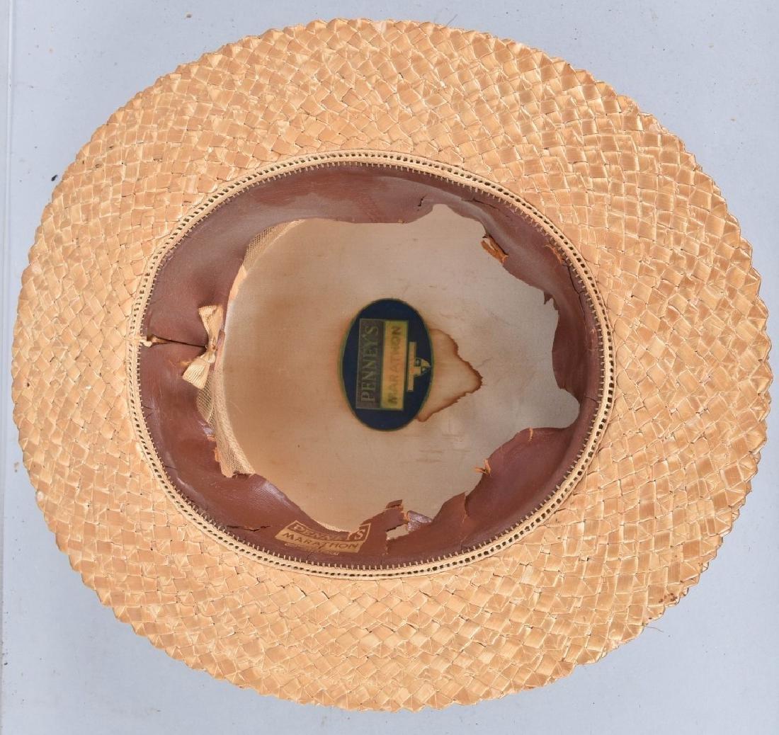 3-VINTAGE STRAW HATS - 3