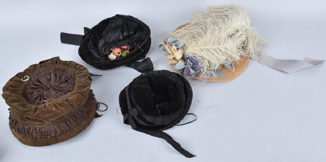 4-VINTAGE LADIES HATS