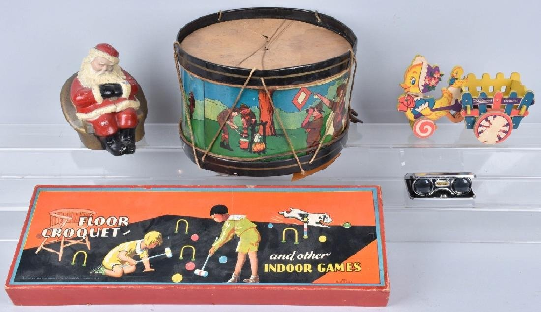 VINTAGE TOY LOT, BOY SCOUT DRUM and MORE