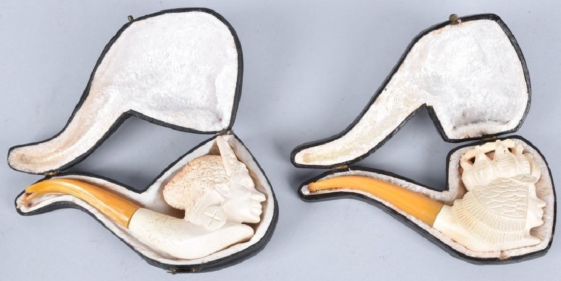 2-MEERSCHAUM PIPES, CASED