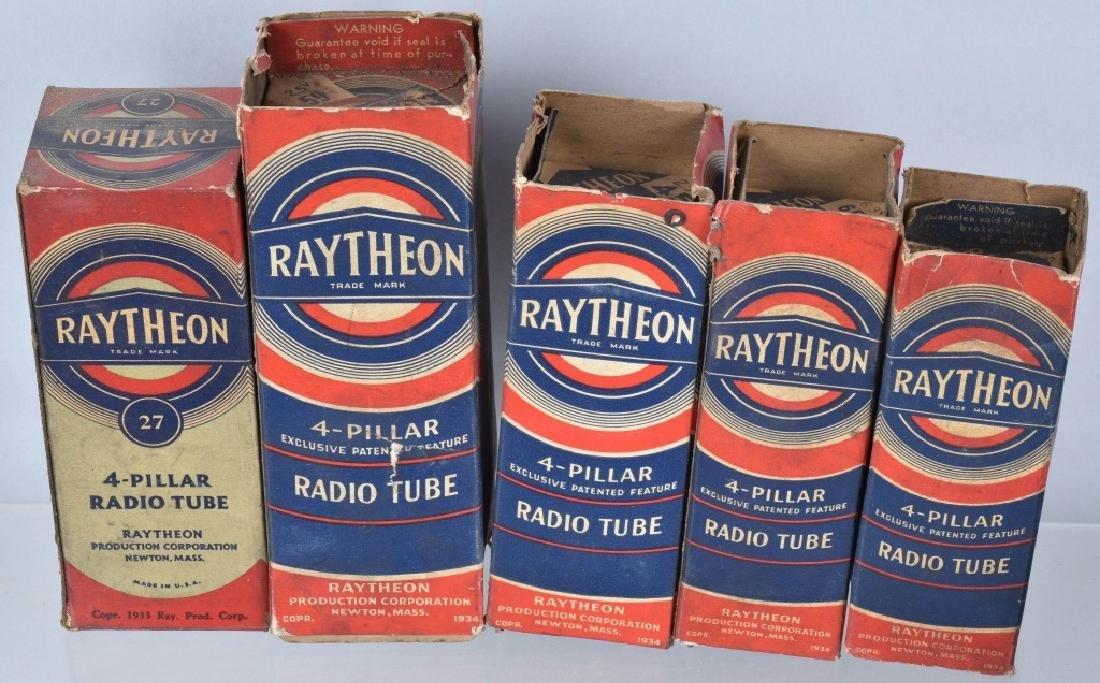 VINTAGE RADIO TUBE LOT, RAYTHEON, RCA and MORE - 3