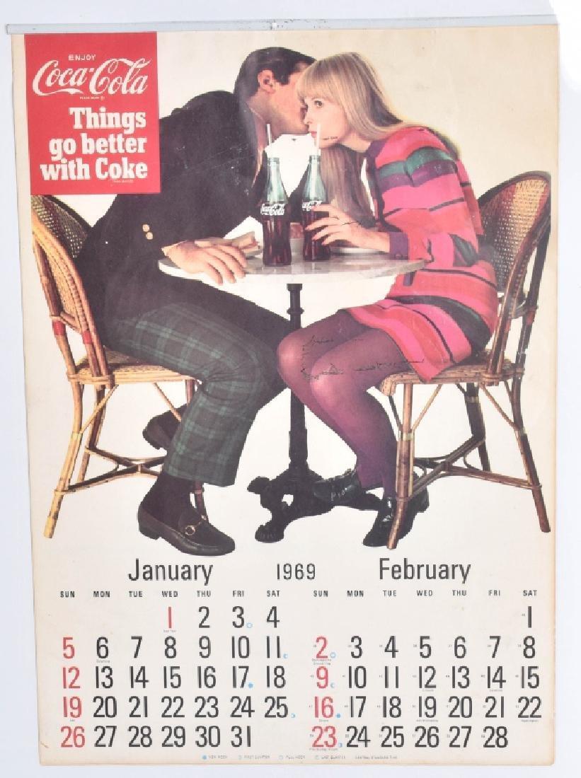 5-COCA COLA CALENDARS, 1956-1969 - 3