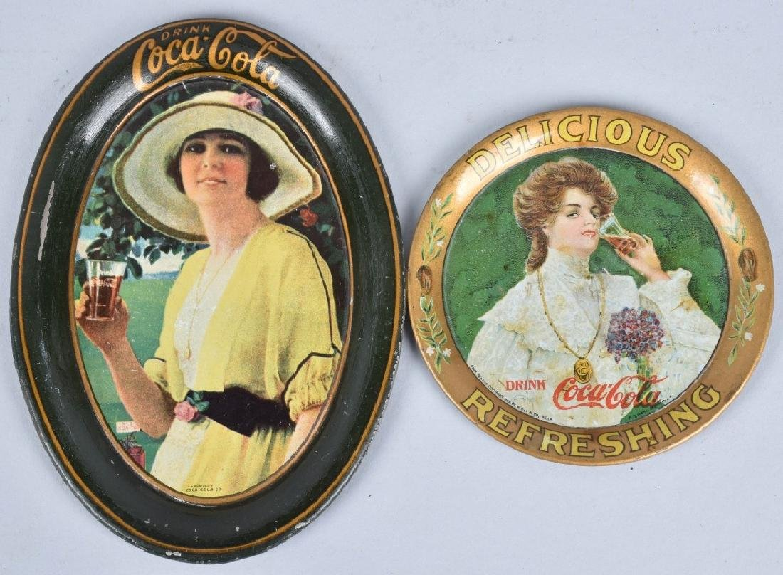 2-COCA COLA TIP TRAYS, 1905 and 1920