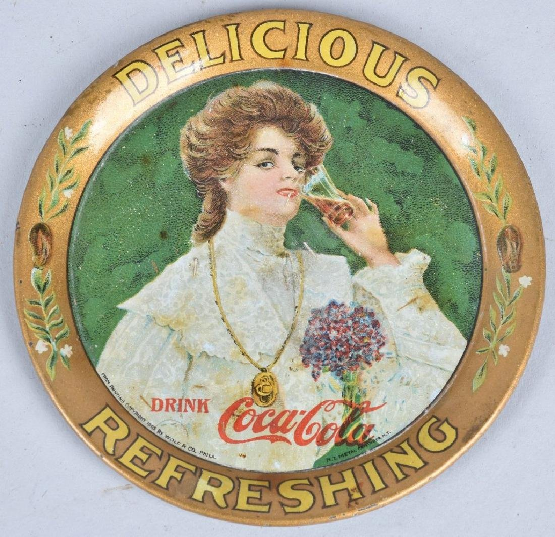 2-COCA COLA TIP TRAYS, 1905 and 1920 - 2