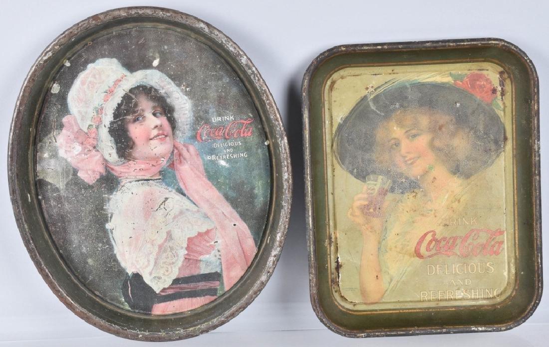 1912 & 1914 COCA COLA SERVING TRAYS