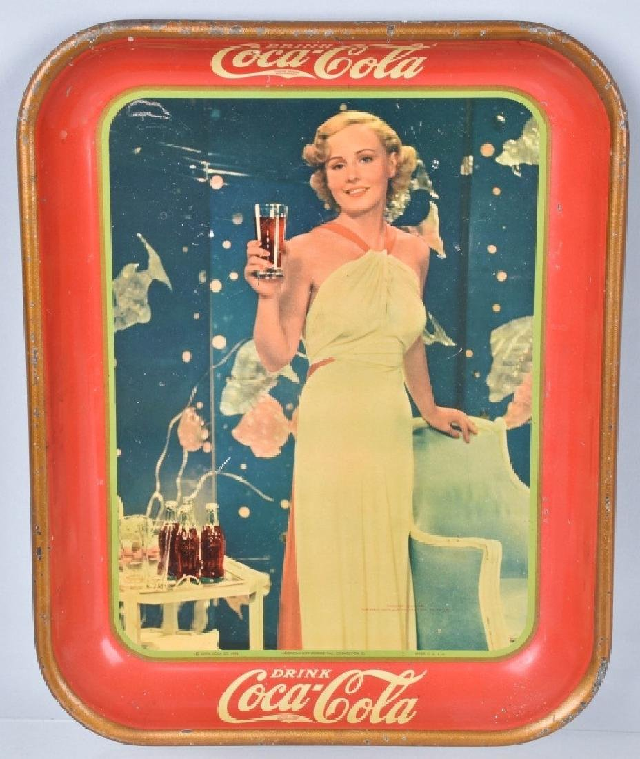 2-COCA COLA SERVING TRAYS,1935 and 1936 - 2