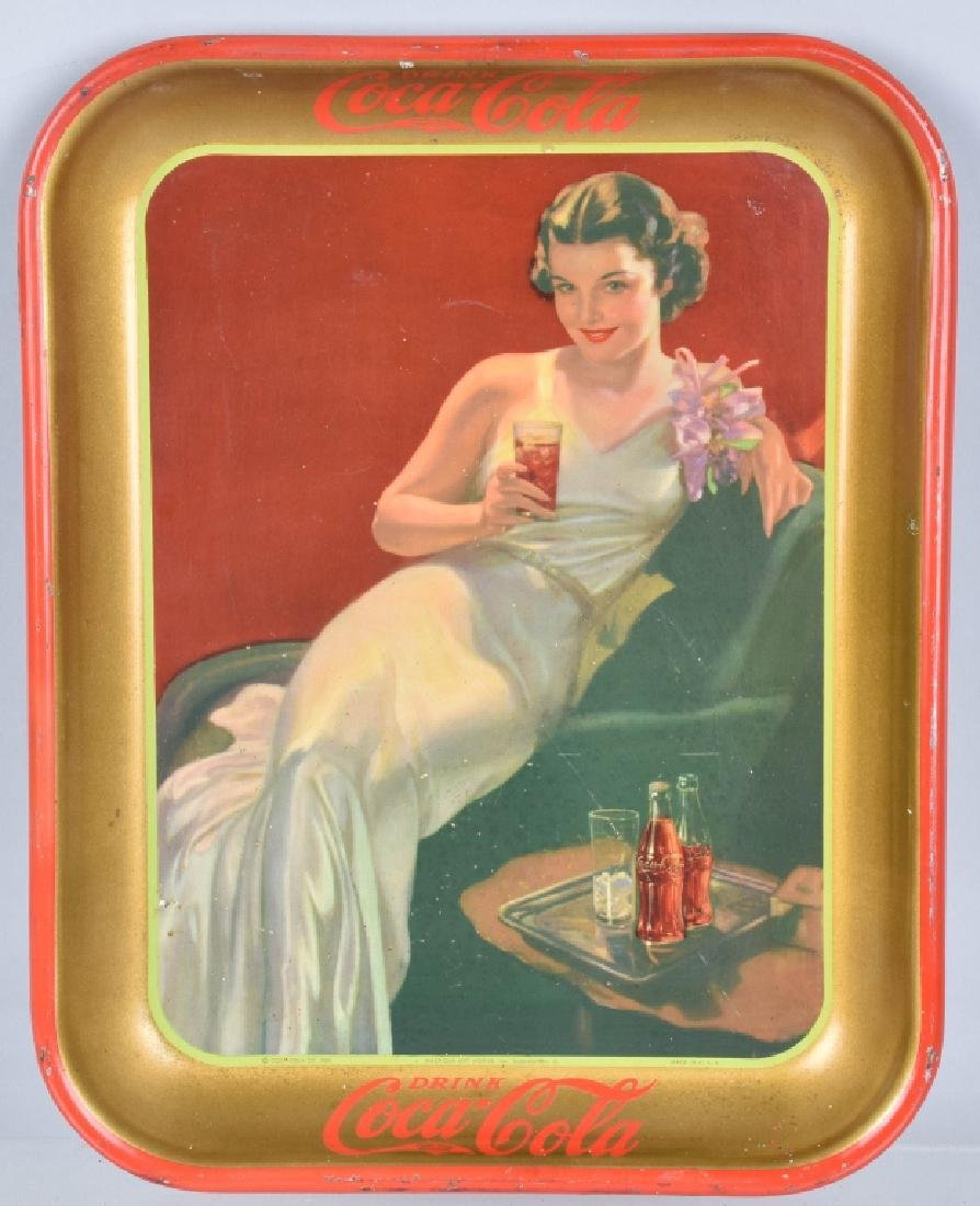 2-COCA COLA SERVING TRAYS,1935 and 1936 - 3