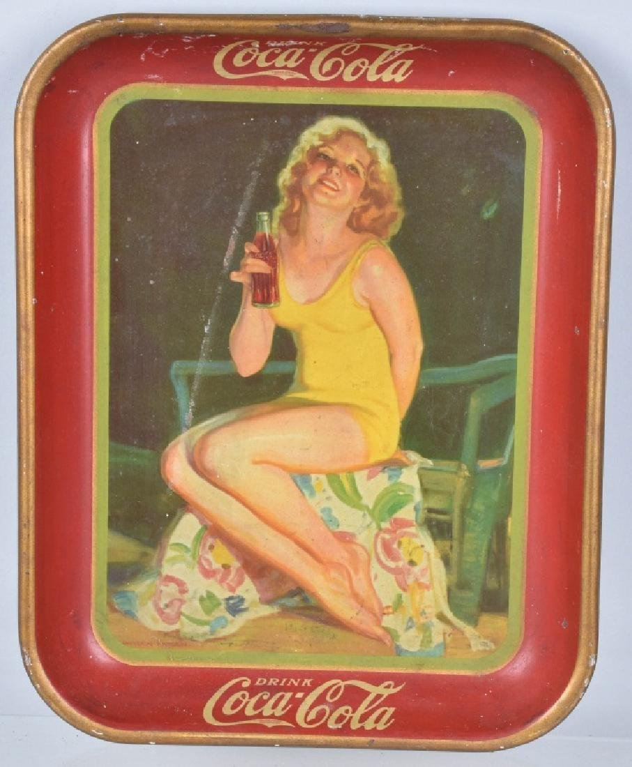 3-COCA COLA SERVING TRAYS, 1930, 1932, and 1936 - 3