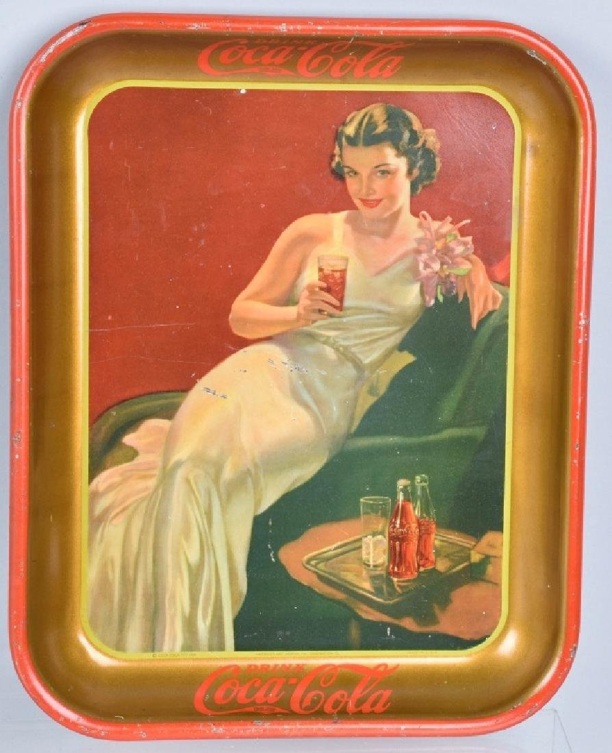 3-COCA COLA SERVING TRAYS, 1930, 1932, and 1936 - 4