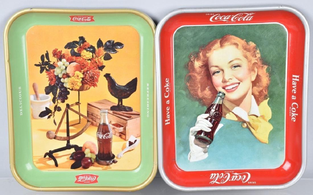 4-COCA COLA SERVING TRAYS, 1948-1957 - 2