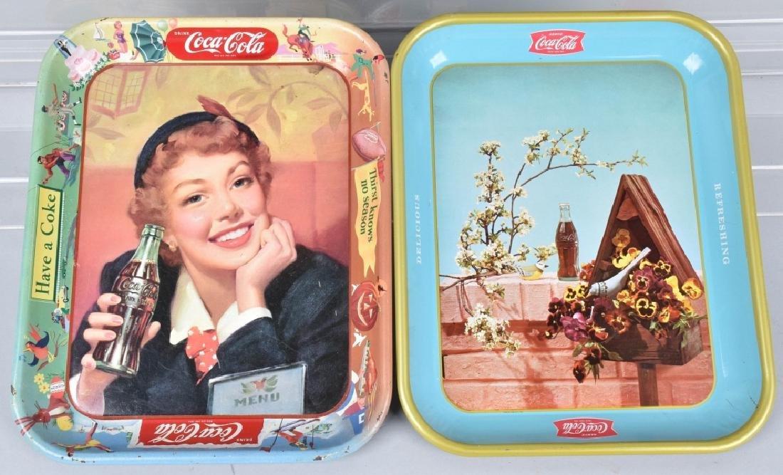 4-COCA COLA SERVING TRAYS, 1948-1957 - 3