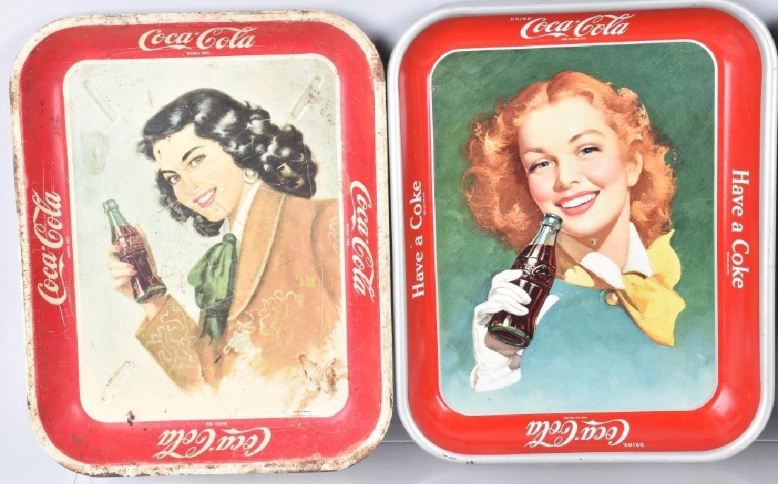 7-COCA COLA SERVING TRAYS, 1948-1960'S - 2