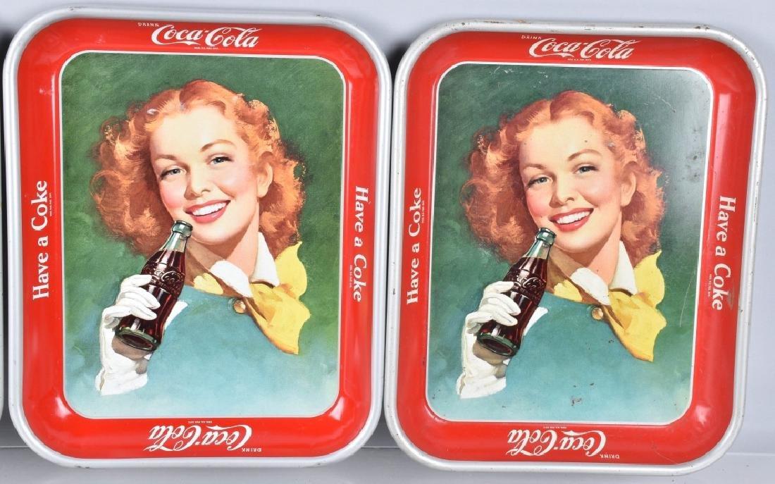 7-COCA COLA SERVING TRAYS, 1948-1960'S - 3
