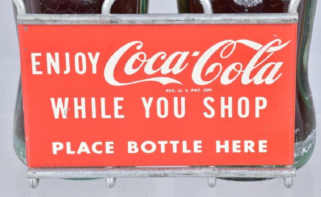 COCA COLA ADVERTISING BOTTLE HOLDER, VINTAGE - 2