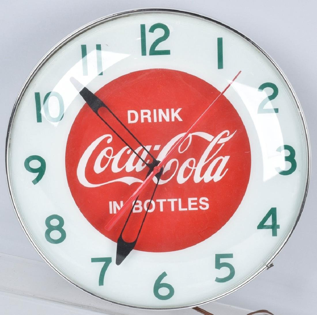 COCA COLA ELECTRIC ADVERTISING CLOCK