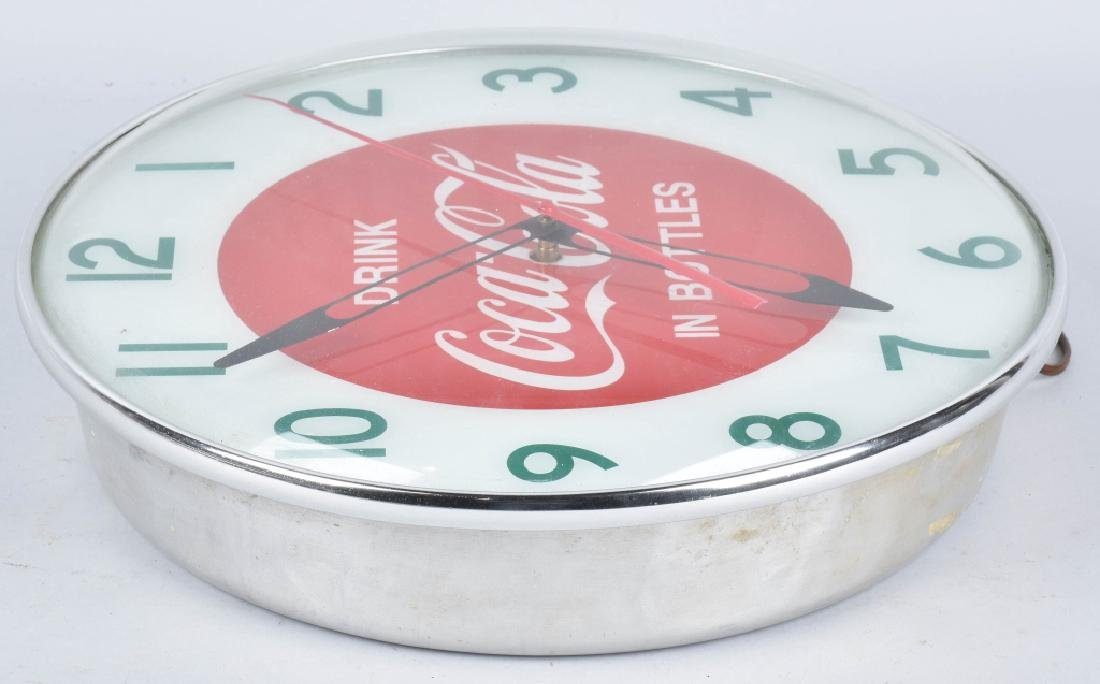 COCA COLA ELECTRIC ADVERTISING CLOCK - 3