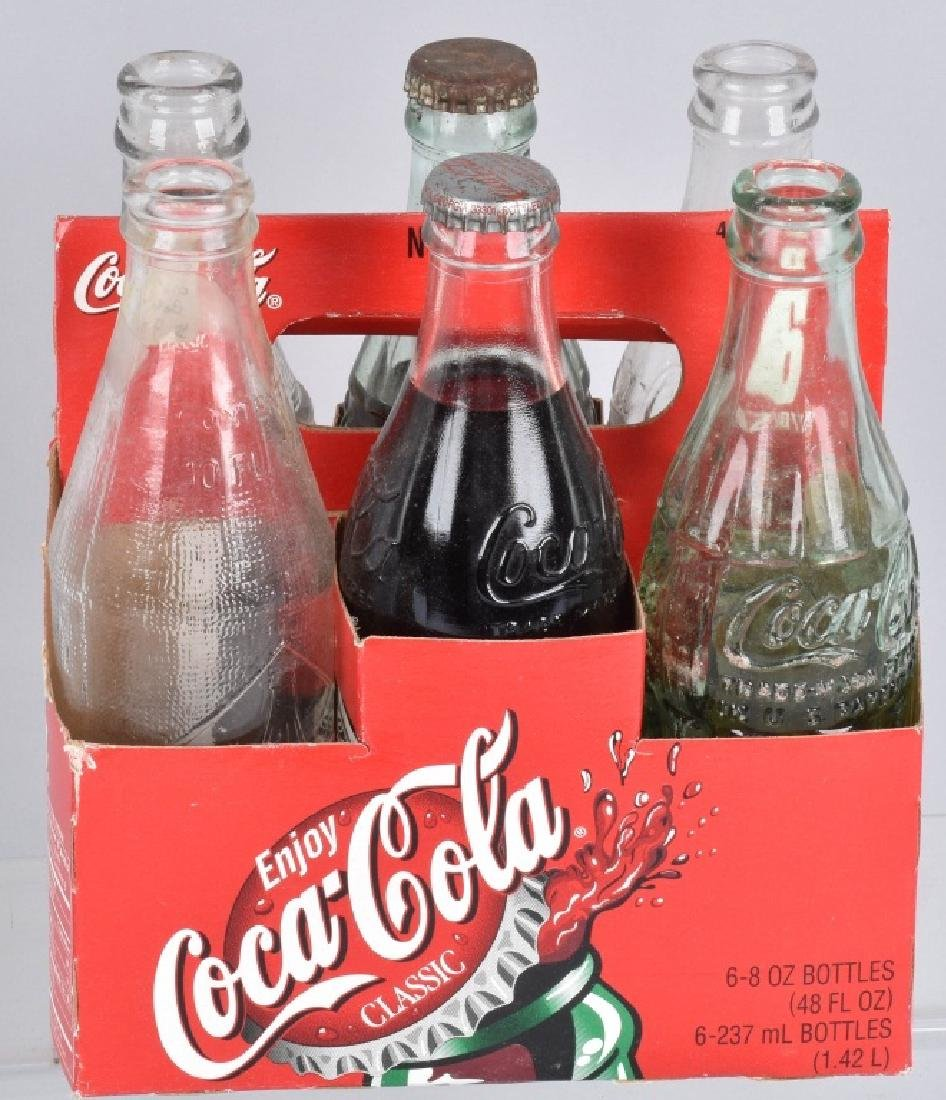 3-COCA COLA SIX PACK CARRIERS and BOTTLES - 2