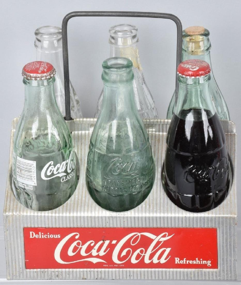 3-COCA COLA SIX PACK CARRIERS and BOTTLES - 3