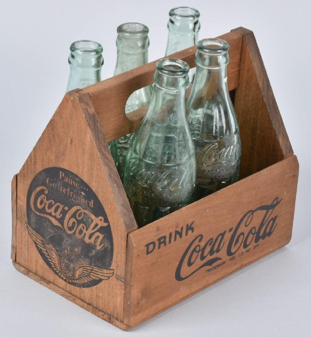 3-COCA COLA SIX PACK CARRIERS and BOTTLES - 5