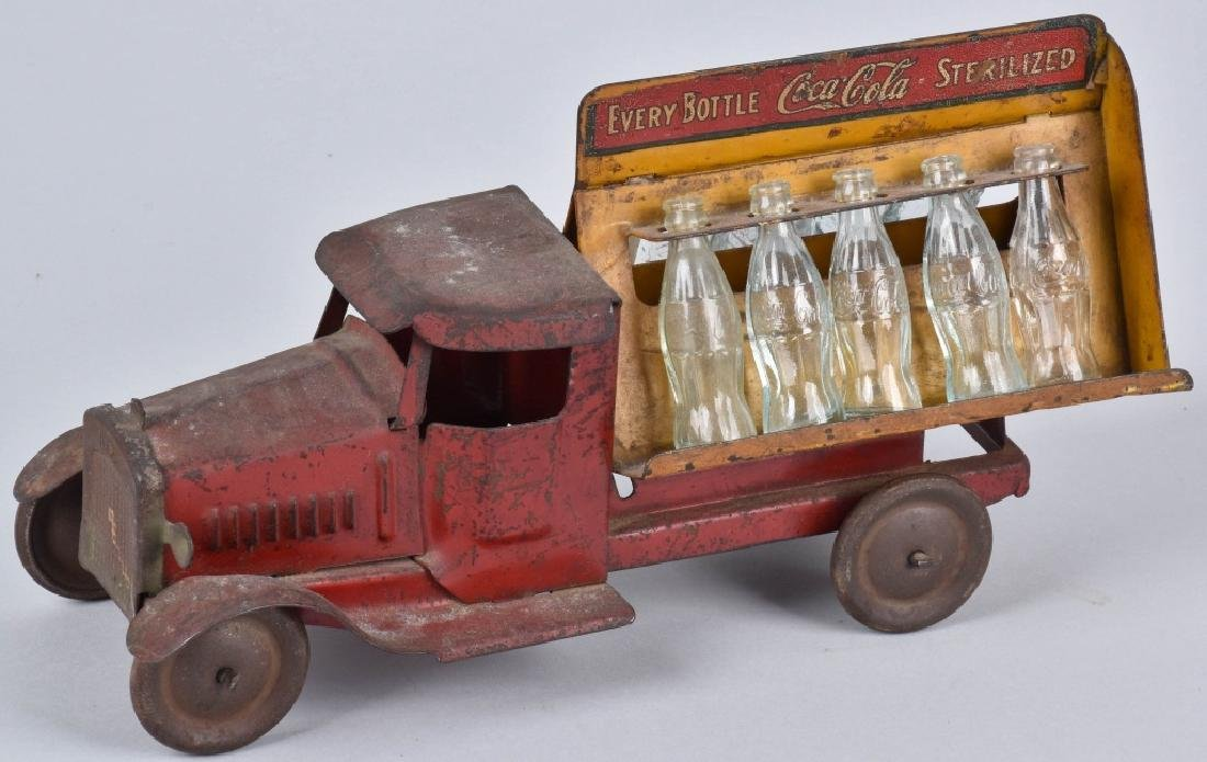 1930's METALCRAFT TOY COCA COLA DELIVERY TRUCK