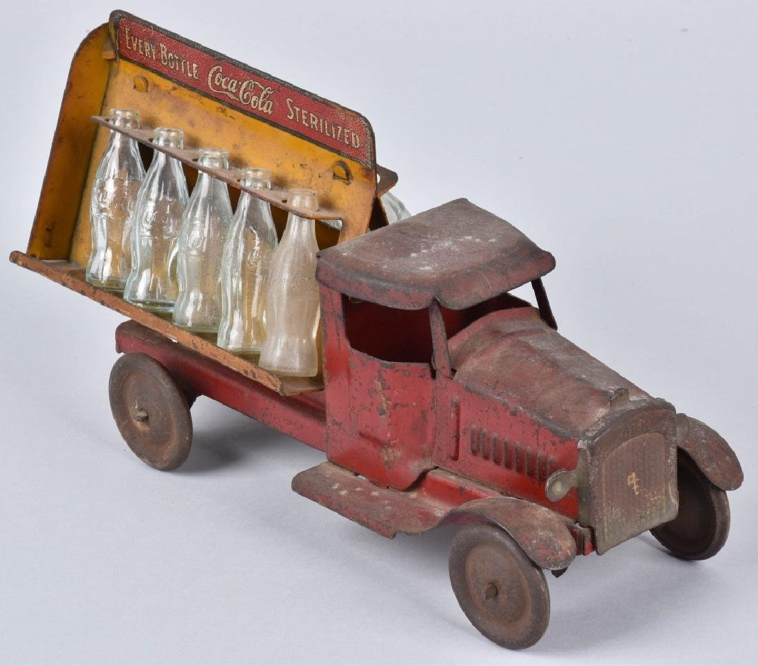 1930's METALCRAFT TOY COCA COLA DELIVERY TRUCK - 3